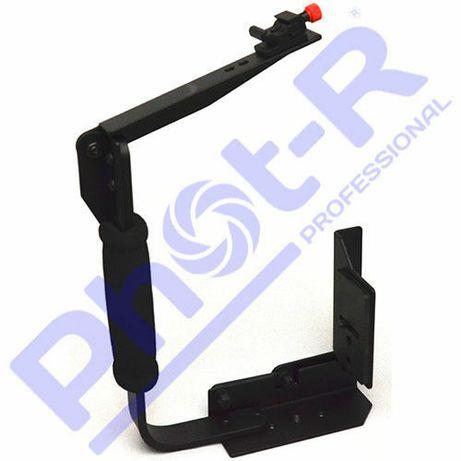 Phot-R Quick Flip Flash Bracket Grip Camera Holder Rig