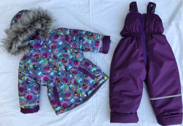 Зимний комбинезон костюм для девочки, термо с бирками и лейбами 92-110
