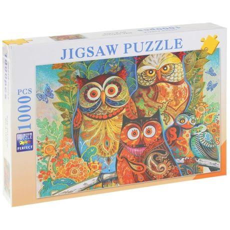 Puzzle 1000 el. Sowy na Drzewie Zwierzęta Ptaki