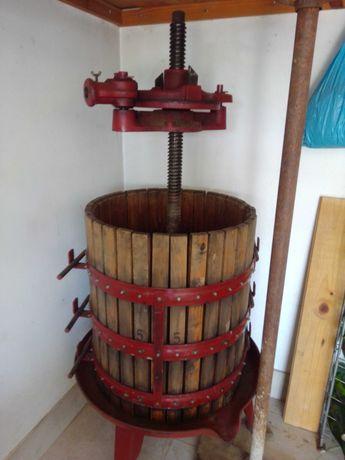 Prensa de 2 cunhas em madeira e ferro