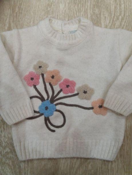свитер кофта на 1-2 года+подарок