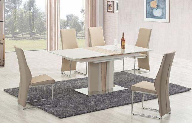 NOWY Stół szklany do jadalni / salonu Stylefy Cameron 150-180x90x76 cm