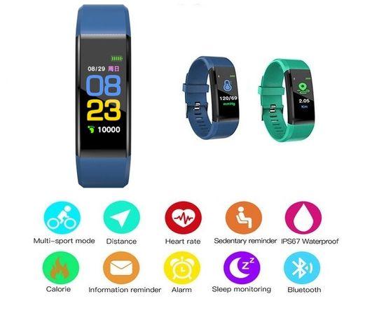 NIE DZIAŁA - 2szt smartwatch smart opaska inteligentna zegarek fitness