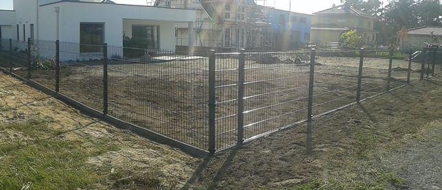 Ogrodzenie panelowe 2D, 90mb, wys 123cm, KOMPLETNE