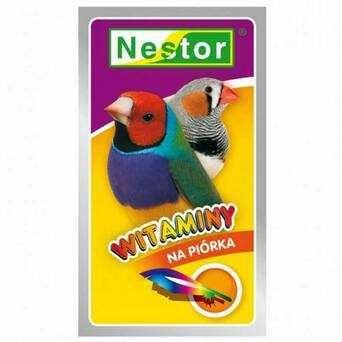 Nestor. Witaminy na piórka dla małych ptaków egzotycznych 20 g.