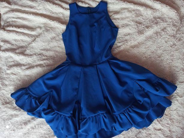 Granatowa/Szafirowa sukienka okazjonalna