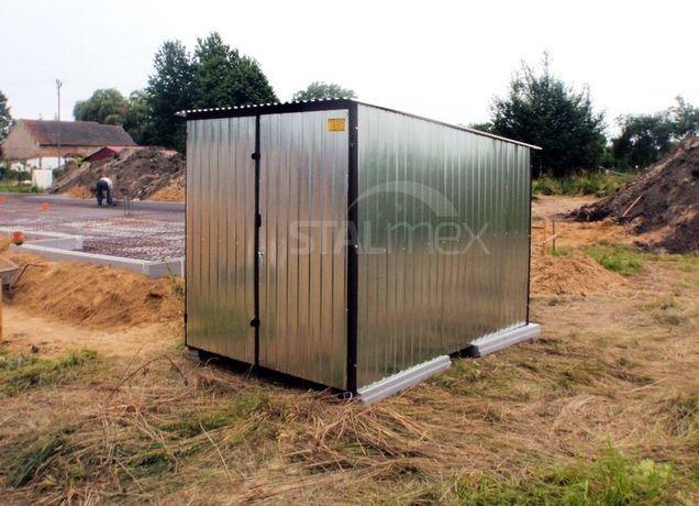 Garaż blaszany/domek narzędziowy na budowę/blaszak 2x3 m ocynk