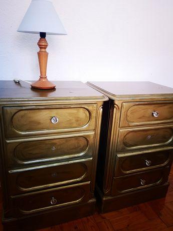 Mesas de cabeceira madeira