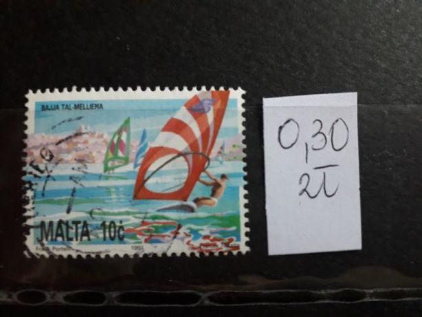 znaczki pocztowe kasowane z różnych krajów Europy 8 szt.