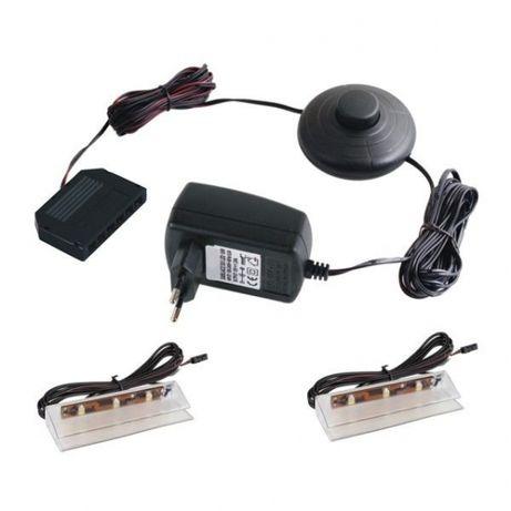 Zestaw 2 klipsów LED do półek szklanych PRISMATIC FT