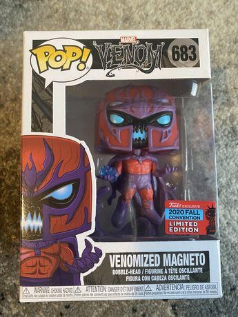 Funko pop magneto venomized bobblehead edicao especial