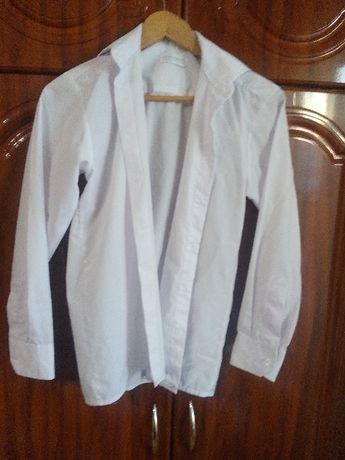 Біла шкільна сорочка на хлопчика рубашка школьная