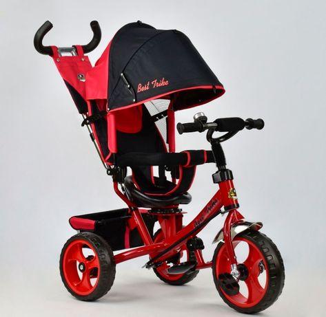 Трёхколёсный велосипед деткий Turbo Trike с родительской ручкой ровер