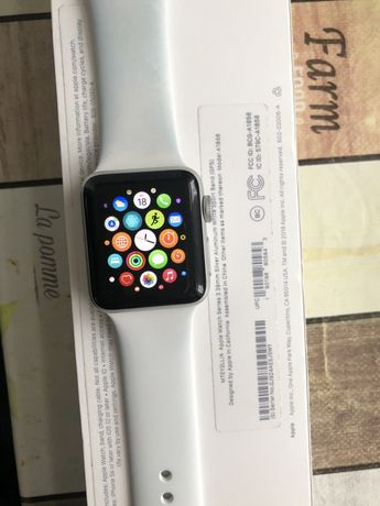 Apple Watch Series3 38mm Silver Aluminum White Sport Band(GPS)
