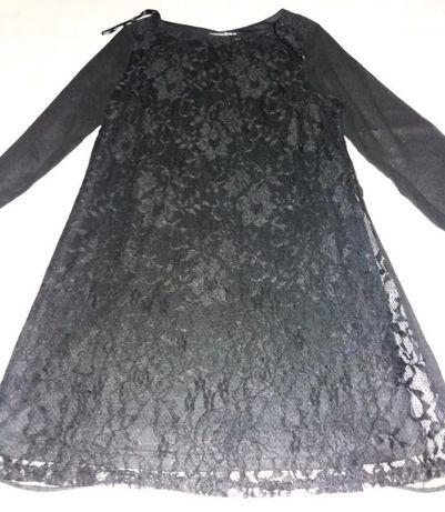Платье с гипюром и шифоном ботал
