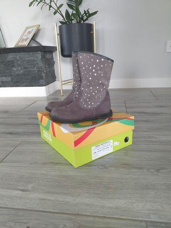 Kozaki kozaczki Mido Noster roz 29 buty zimowe szare kożuszek jak emel