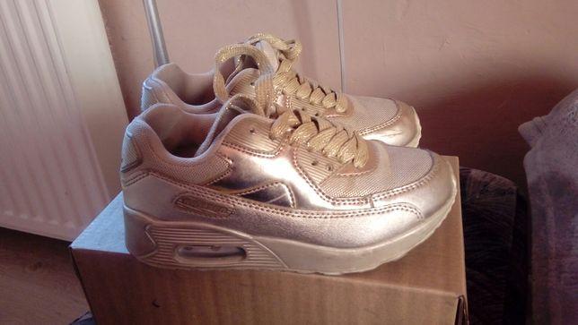 Okazja piekne zlote sneakersy rozm 31