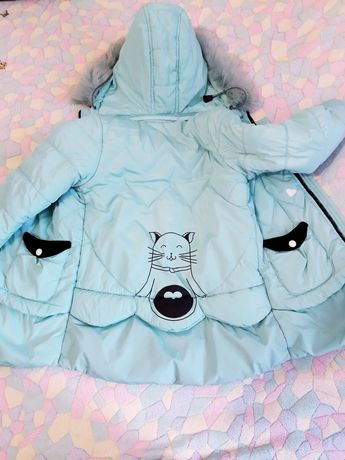Продам зимнюю курточку для девочки