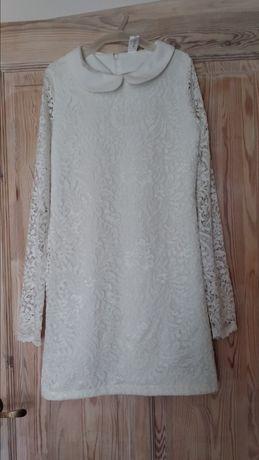 Elegancka dziewczęca koronkowa sukienka 152cm