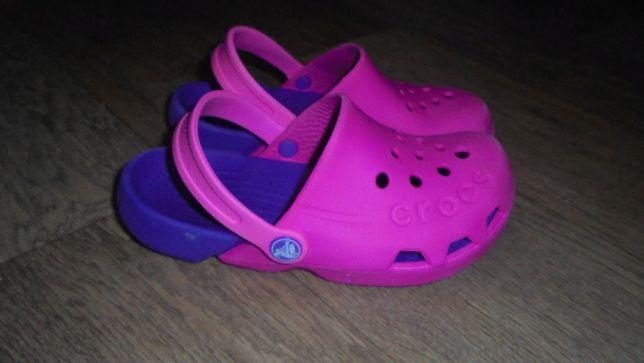 Сабо кроксы шлепанци двухцветные оригинал Meксика Crocs на узкую ногу