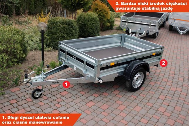 Przyczepka samochodowa 205x125 Świdnik martz Premium mocna AL-KO RATY!