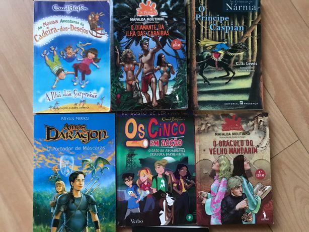 Livros juvenis como novos