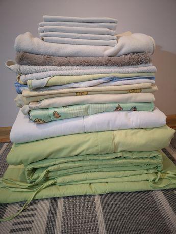 Wyprawka dla niemowlaka. Ręcznik, pościel, kołdra, kocyk, ochraniacz