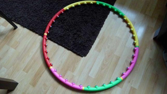 Hula hop z wypustkami, składane