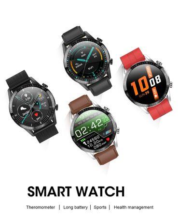 Smartwatch męski czarny POMIAR TEMPERATY najnowszy model PROMO