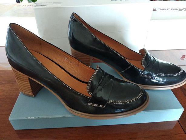 Туфли шлепанцы босоножки новые устойчивый каблук кожа, Акция 38 размер