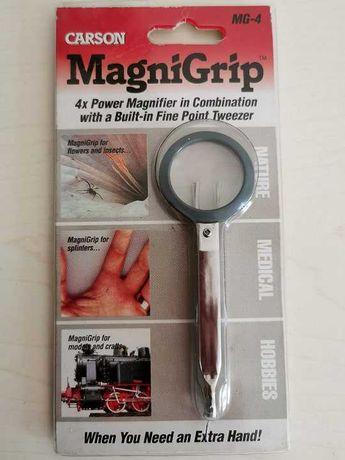 Lupa x4 e Pinça de pontas finas - Carson MagniGrip MG 4