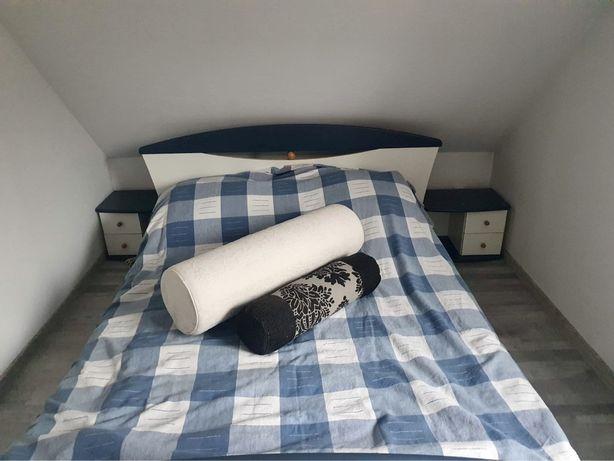 Meble do sypialni komplet zestaw mebli komoda łóżko szafka nocna