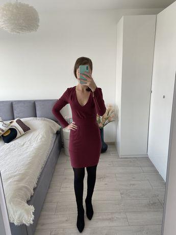 Sukienka burgundowa H&M rozm XS