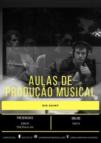 Aulas de Produção Musical (Presenciais ou online)