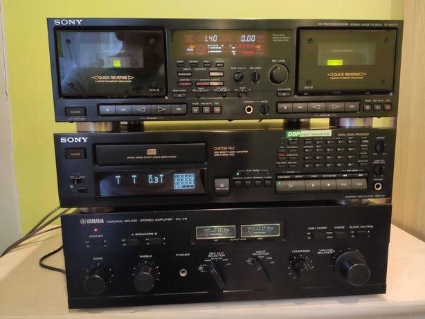 Sony magnetofon deck TC WR-770 Sony odtwarzacz cd CDP-997