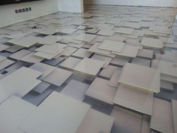 Полимерный пол. Наливной 3D пол. Промышленные бетонные полы...