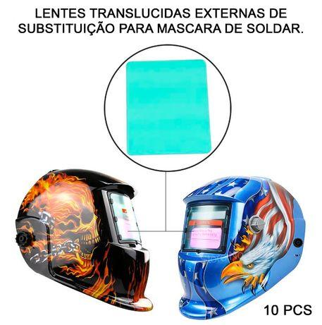 Lente de Substituição Máscara de Soldar Modelo MZ-224 (10 Pcs)