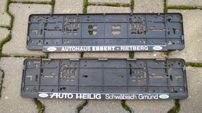 Ramki tablice rejestracyjne komplet - mocne niemieckie