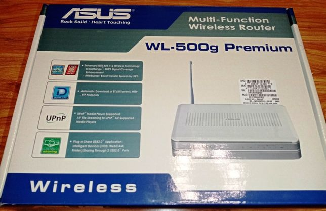 Wi-Fi роутер ASUS WL-500gp с USB (3G/4G/CDMA)