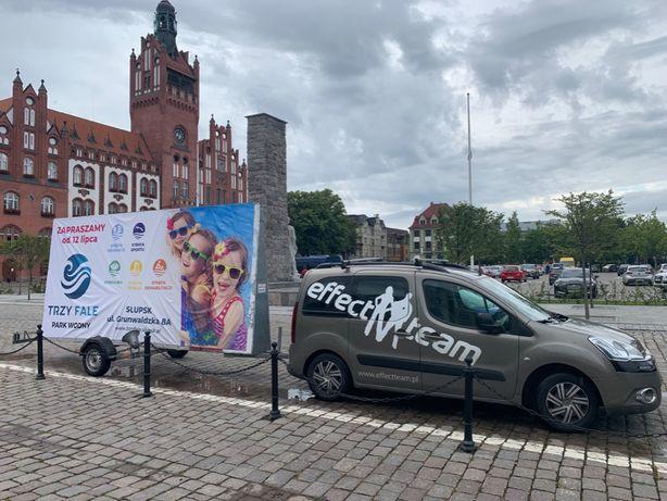 Kampania mobilna spoty dźwiękowe Laweta Wynajem reklama banery wydruk