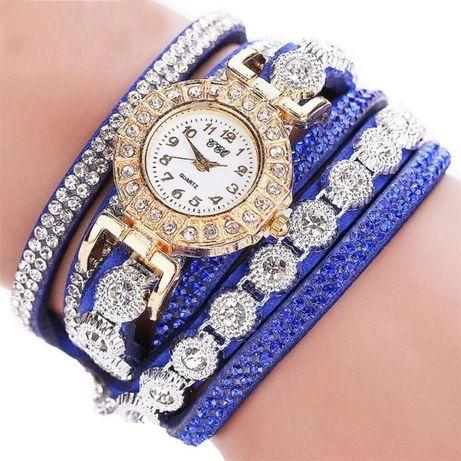 ХИТ!!! Модные женские часы-браслет со стразами (6 Цветов) Красный Лиман - изображение 1