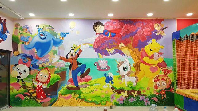 Художественная роспись стен, детских комнат/кафе,витрин,досок декор