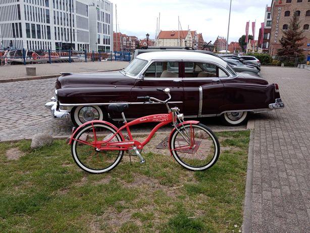 Rower Cruiser MICANO HARLEM Czerwony Piękny 26 Cali 3 biegi- JAK NOWY!