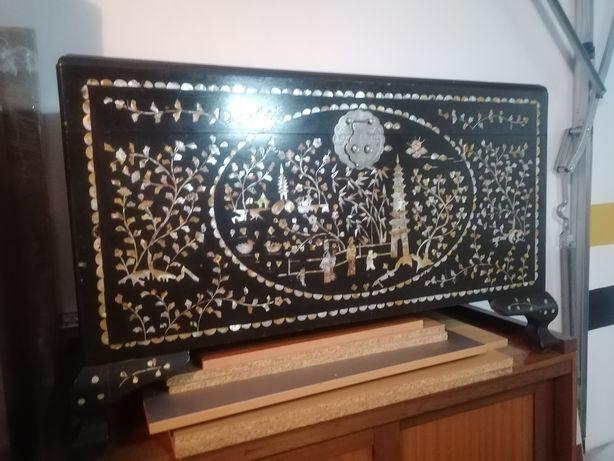 Arca chinesa cânfora com madrepérola