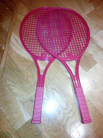 Пластикові дитячі навчальні ракетки для тенісу, бадмінтону.