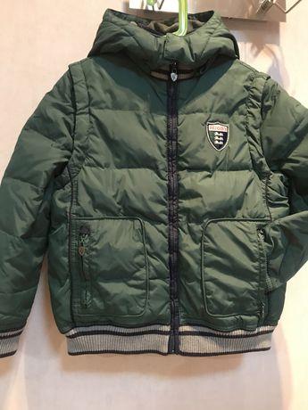 Chicco Пухова куртка трансформер Торг 8-7 р.128.Пуховая куртка 2 в 1