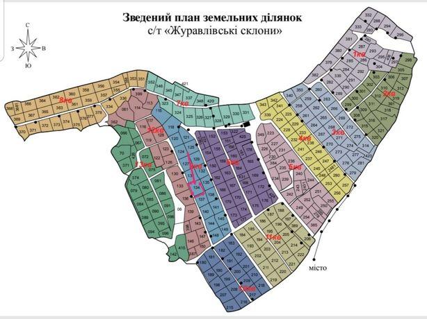 """Участок приватизированый  в СТ""""Журавлевские склоны"""" общ.пл. 13 соток"""