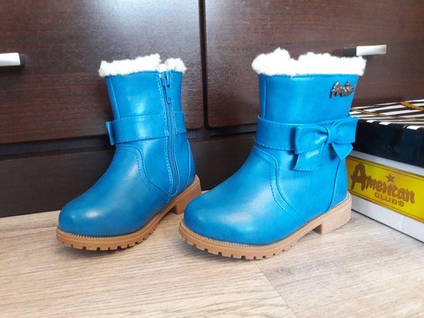 Buty zimowe jak nowe buciki 23 ocieplane american club