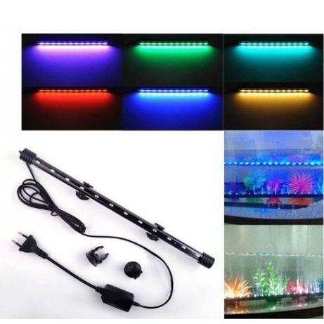 Лампа для аквариума светодиодная погружная с пультом 8 цветов
