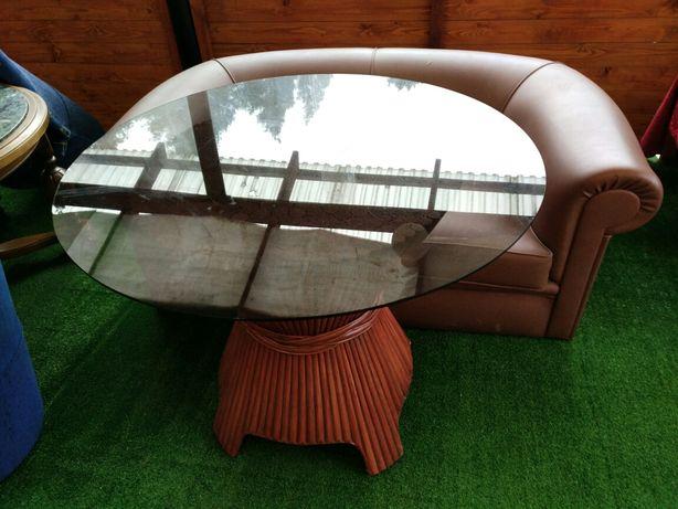 Ława szklana,stół,stolik z okrągłym blatem.